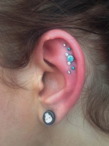 Helix Ear Project with Anatometal and Neometal Jewelry by Christina Shull